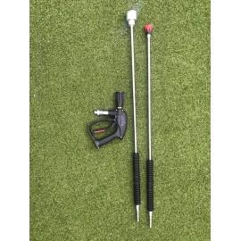Set van 2 lansen met spuitpistool voor BioMant voor lage druk onkruidbestrijding en hoge druk reinigen