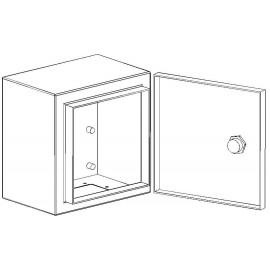 Behuizing, metaal 200x200x155mm voor schakelkasten en pompkasten