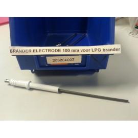 Electrode 100mm voor LPG brander