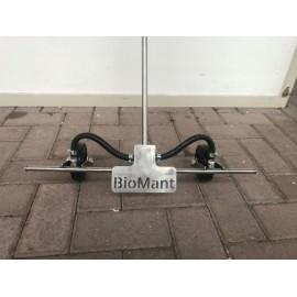 Handspuitwagentje 50 cm, RVS, BioMant, zonder spuitscherm en met kleine wieltjes